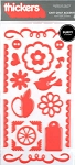 American Crafts Thickers Puffy Stickers - Chit Chat Accents Grapefruit