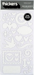 American Crafts Thickers Chipboard Stickers - Darling Accents White