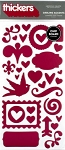American Crafts Thickers Chipboard Stickers - Darling Accents Mulberry