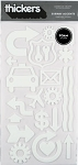American Crafts Thickers Foam Stickers -Subway Accents White