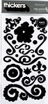 American Crafts Thickers Vinyl Stickers - Vera Accents Black