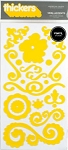American Crafts Thickers Vinyl Stickers - Vera Accents Sunflower