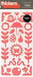 American Crafts Thickers Puffy Stickers - Umbrella Accents Grapefruit