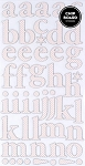 American Crafts Thickers Printed Chipboard Stickers - Regards Coral