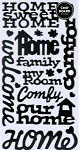 American Crafts Thickers Glossy Chipboard Stickers - Tenant Phrases Black