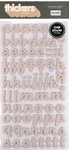 American Crafts Thickers Chipboard Stickers - Hat Box Pink