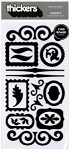 American Crafts Thickers Chipboard Stickers - Accents Black