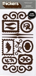 American Crafts Thickers Chipboard Stickers - Accents Chestnut