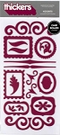 American Crafts Thickers Chipboard Stickers - Accents Wine