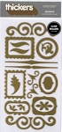 American Crafts Thickers Chipboard Stickers - Accents Metallic Gold