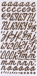 American Crafts Thickers Chipboard Stickers - Campy Trails Series - Forest - Chestnut