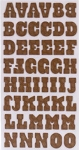 American Crafts Thickers Chipboard Stickers - Hello Sunshine Series - Pat Chip - Chocolate