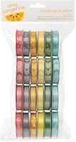 American Crafts - Yes Please Collection - by Amy Tangerine - Value Pack - 24 Spools of Premium Ribbon
