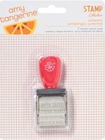 American Crafts - Yes Please Collection - by Amy Tangerine - Roller Stamp - 12 Phrases