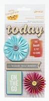 American Crafts - Yes Please Collection - Amy Tangerine - Details Adhesive Dimensional Mix - Opportunity