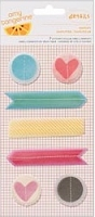 American Crafts - Yes Please Collection - by Amy Tangerine - Stitched Vellum Shapes (7 Pack) - Simplify
