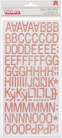 American Crafts - Yes Please Collection - by Amy Tangerine - Thickers Chipboard Alphabet Stickers - Goodness / Pink