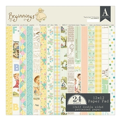 Authentique - Beginnings Collection - 12x12 paper pad