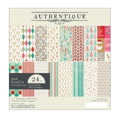 Authentique - Colorful Christmas Collection - 6x6 Paper Pad