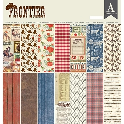 Authentique - Frontier Collection - 12x12 paper pad