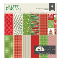 Authentique - Happy Christmas Collection - 12x12 paper pad