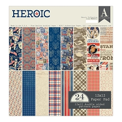 Authentique - Heroic Collection - 12x12 paper pad