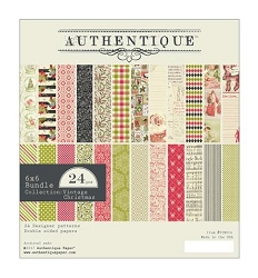 Authentique - Vintage Christmas Collection - 6x6 Paper Pad