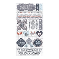 Authentique - Wintery Collection - 6X12 Component Die Cuts