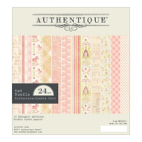 Authentique - Cuddle Girl Collection - 6x6 Paper Pad