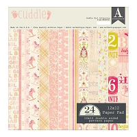 Authentique - Cuddle Girl Collection - 12x12 paper pad