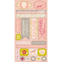 Authentique - Cuddle Girl Collection - 6X12 Component Die Cuts