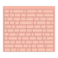 Authentique - Cuddle Girl Collection - Petite Diction sticker