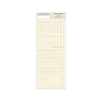 Authentique - Faith Collection - Petite Type Stickers (Ivory)