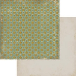 Authentique-Paper-6x6-Freebird-Green/Gold Geometric