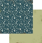 Authentique-Paper-6x6-Freebird-Blue Vine Floral