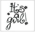 Autumn Leaves - Mini Clear Stamp - It's A Girl by Tia Bennett