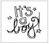Autumn Leaves - Mini Clear Stamp - It's A Boy by Tia Bennett