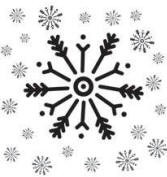 Autumn Leaves - Stampology Mini Clear Stamp - Multi Snowflake