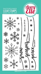 Avery Elle - Clear Stamps - Snowflakes