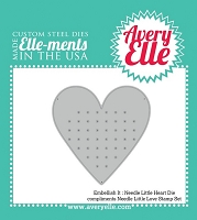 Avery Elle - Elle-ments Dies - Embellishment Needle Heart