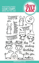 Avery Elle - Clear Stamps - Party Pals