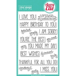 Avery Elle - Clear Stamps - Handwritten Notes