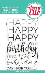 Avery Elle - Clear Stamps - Big Birthday