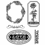 Hero Arts Cling Stamp - Kissing Booth - Comes From The Heart (For Basic Grey)