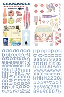 Basic Grey - Soleil Collection - Chipboard Stickers