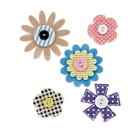Basic Grey - Soleil Collection - Fabric Flowers