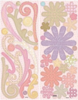 Best Creation - Chipboard Shapes - Pastel Floral/Swirl
