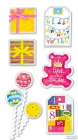 Best Creation - Metal Tag Stickers - Birthday Bear Tags