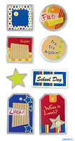Best Creation - Metal Tag Stickers - School Fun