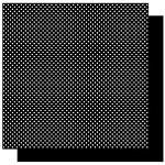 Best Creations-Patterned Glitter Cardstock-Black Dot
